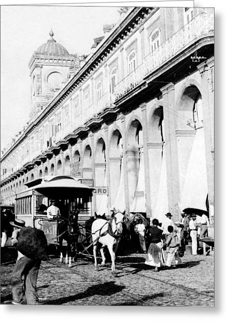Havana - Cuba - The Great Market - C 1899 Greeting Card by International  Images