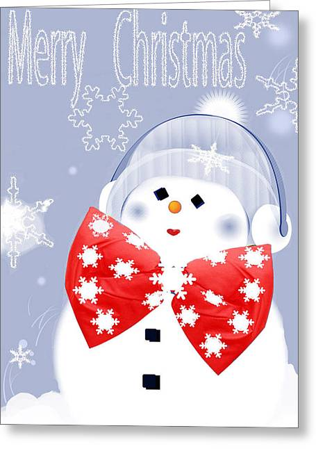 Have A Frosty Holiday Greeting Card by Debra     Vatalaro