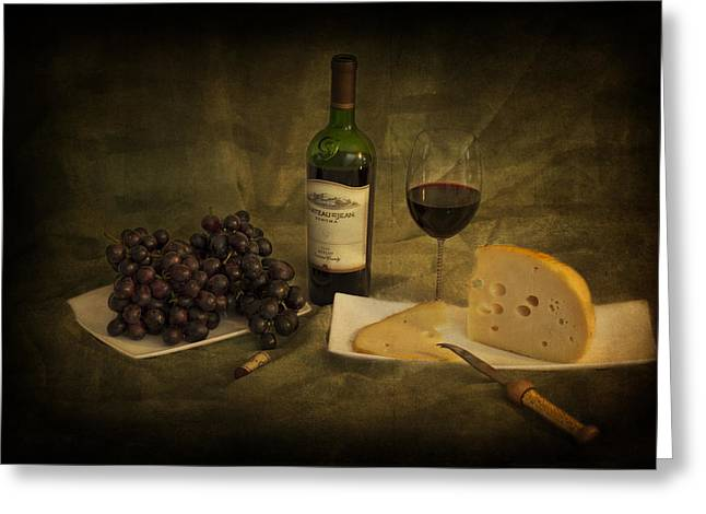 Have A Glass Of Red Greeting Card by Yelena Rozov