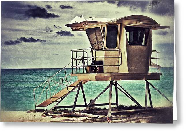 Greeting Card featuring the photograph Hawaii Life Guard Tower 1 by Jim Albritton