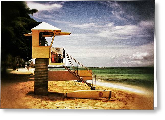 Greeting Card featuring the photograph Hawaii Lifeguard Tower 2 by Jim Albritton