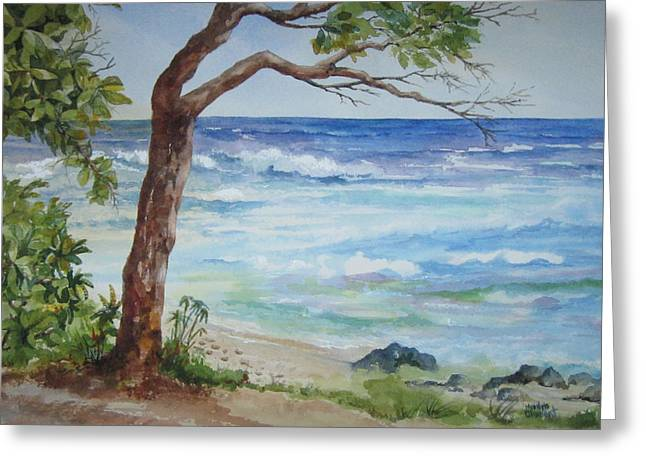 Hawaiian Beach Greeting Card