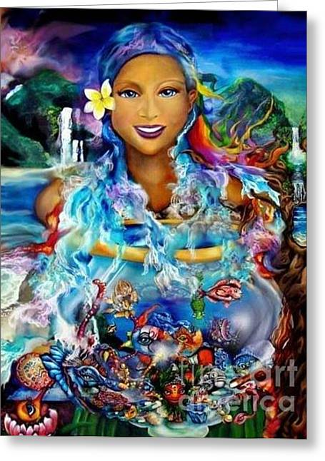 Hawaiian Goddess Greeting Card