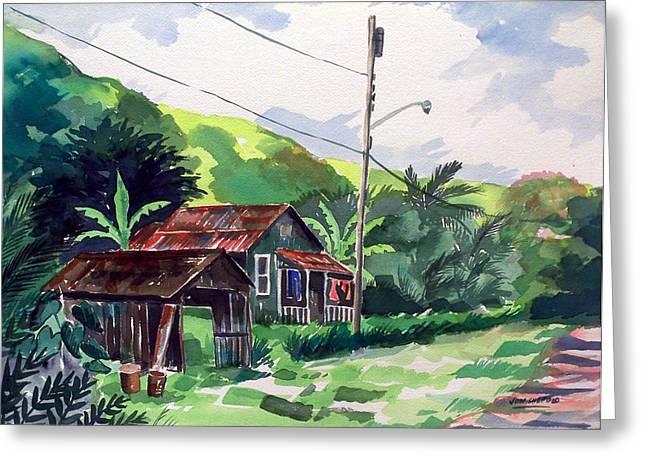 Hawaiian Home Greeting Card by Jon Shepodd