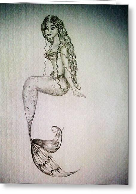 Hawaiian Mermaid Greeting Card by Kammy Hodges