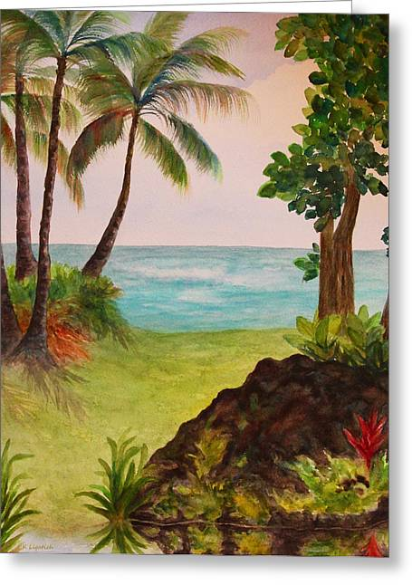 Hawaiian Oceanside Greeting Card