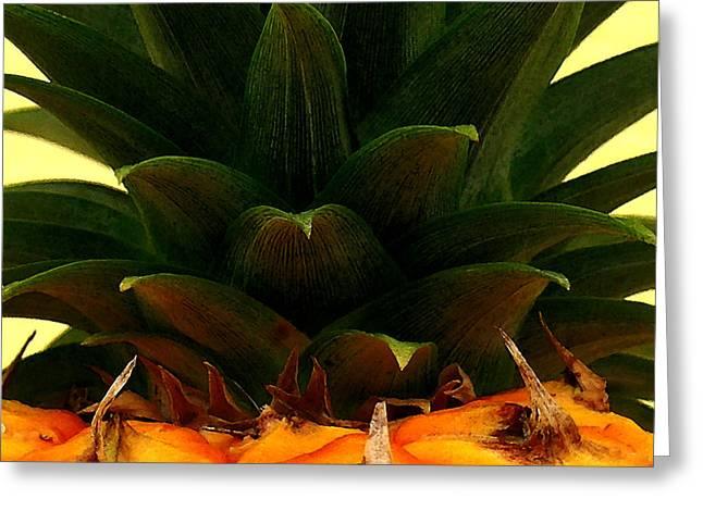 Hawaiian Pineapple Top Greeting Card