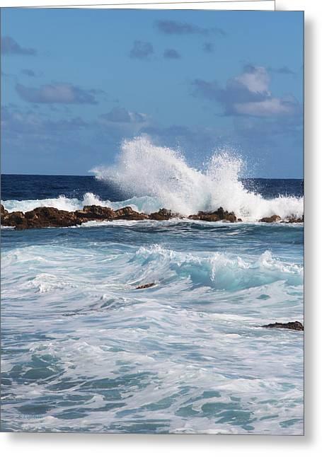 Hawaiian Shore Break  Greeting Card by Kerri Ligatich