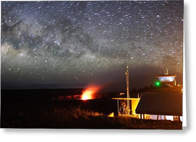 Hawaiian Volcano Observatory Monitors Greeting Card by Steve And Donna O'Meara