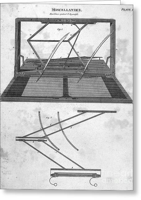 Hawkins Polygraph, 1803 Greeting Card by Granger