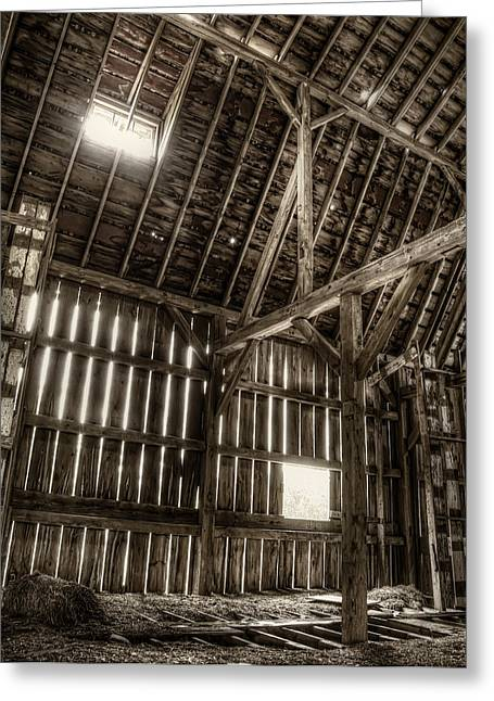 Hay Loft Greeting Card by Scott Norris