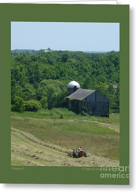 Haying-ii Greeting Card by Patricia Overmoyer