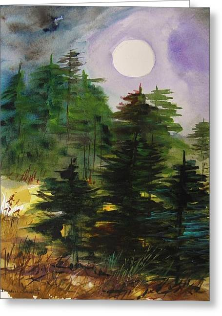 Haze Moving In Greeting Card by John Williams