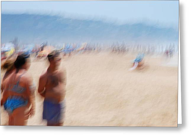 Haze On The Beach Greeting Card by Perry Van Munster