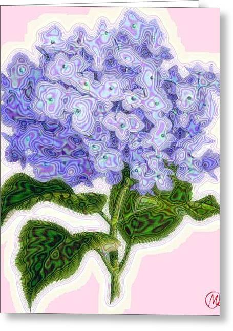 Hazy Hydrangea Greeting Card