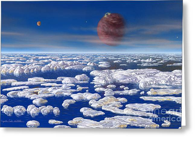 Hd 168443 C And Moons Greeting Card