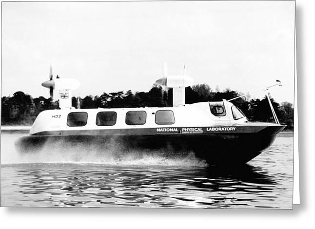 Hd2 Hovercraft, 1967 Greeting Card by National Physical Laboratory (c) Crown Copyright