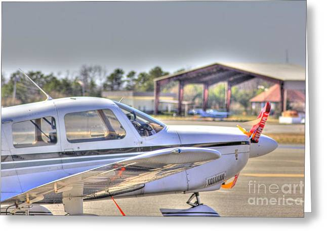 Hdr Airplane Looks Plane From Afar Under Canopy Greeting Card by Pictures HDR