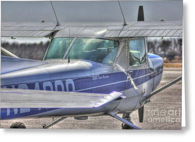 Hdr Airplane Single Prop Engine Greeting Card by Pictures HDR
