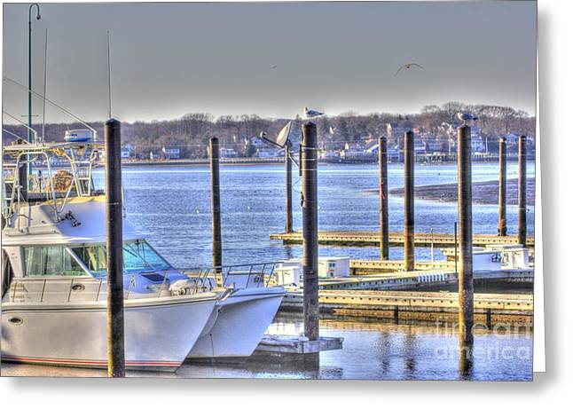 Hdr  Boat Waiting Wanting Yet Tied Greeting Card