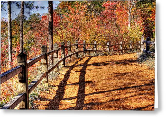Hdr- Fenced Path Greeting Card