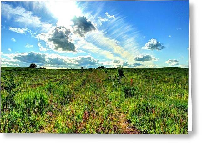 Hdr Landscape Greeting Card by Ernestas Papinigis
