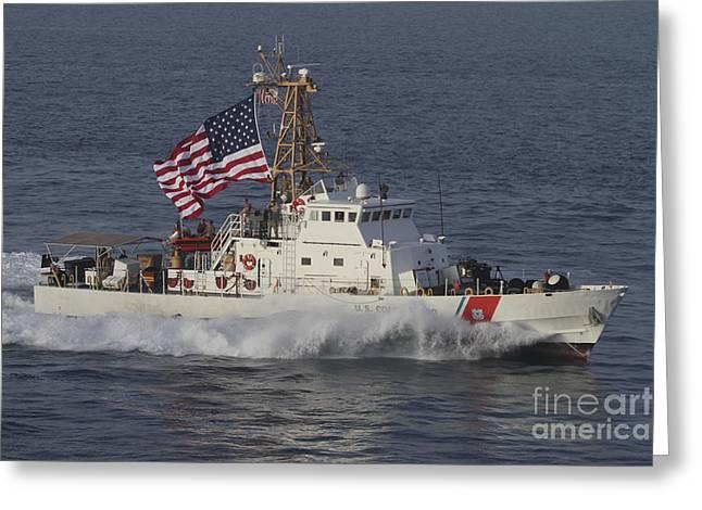 He U.s. Coast Guard Cutter Adak Greeting Card