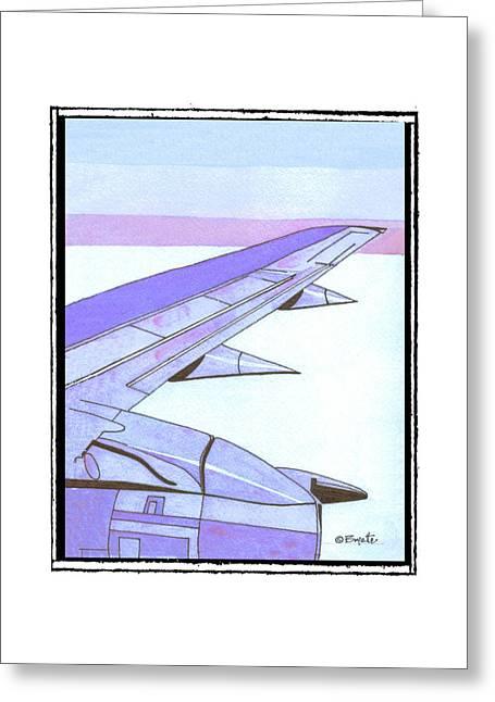 Headed Somewhere In Flight Greeting Card by Robert Boyette