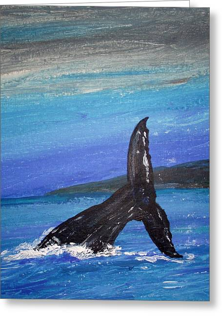 Greeting Card featuring the painting Heading For The Deep by Martin Blakeley