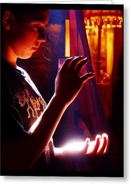 Greeting Card featuring the photograph Healing Hands by Susanne Still