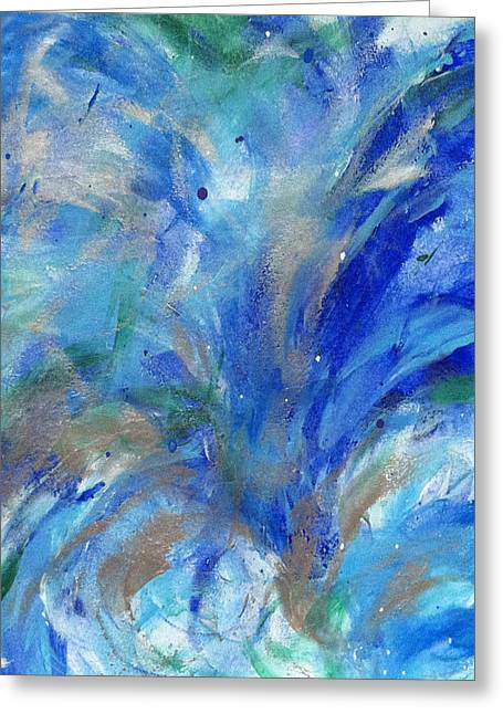 Healing Waves Greeting Card by Bethany Stanko