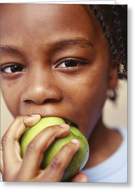 Healthy Eating Greeting Card by Ian Boddy