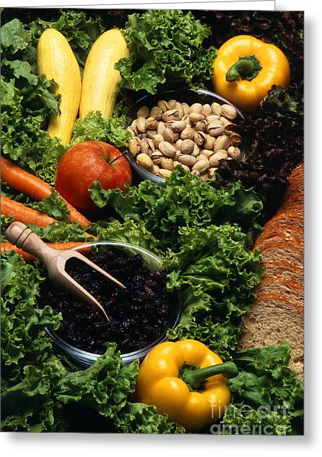 Healthy Foods Greeting Card by Photo Researchers