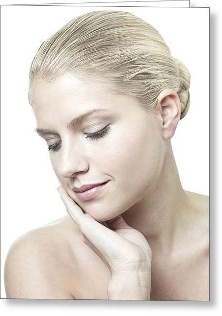 Healthy Young Woman Greeting Card by