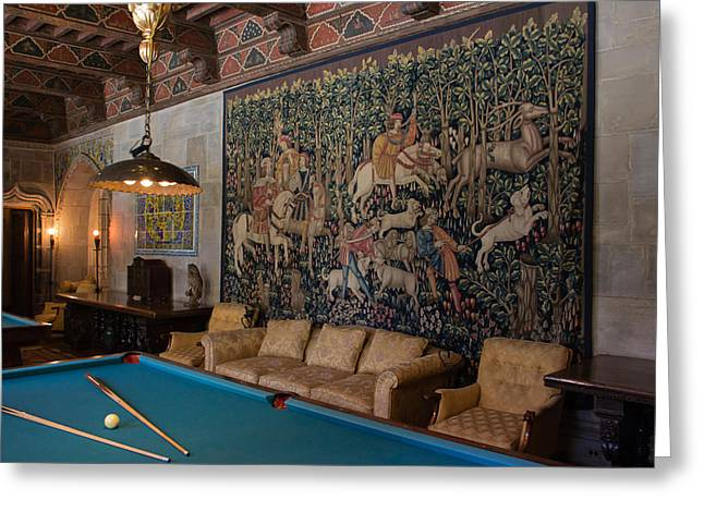 Hearst Castle's Game Room Art Greeting Card