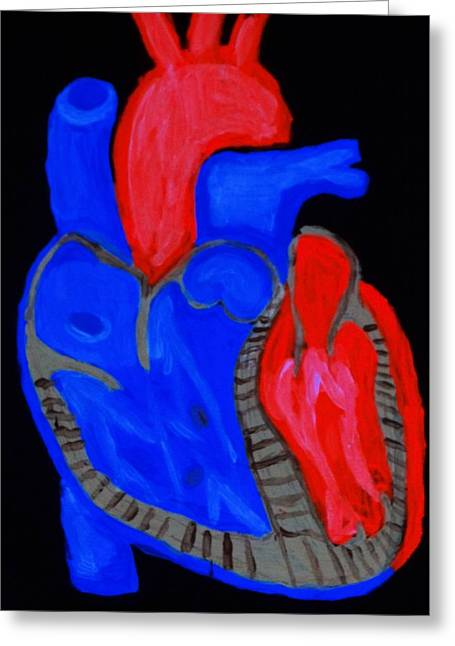 Greeting Card featuring the painting Heart A Glow by Lisa Brandel