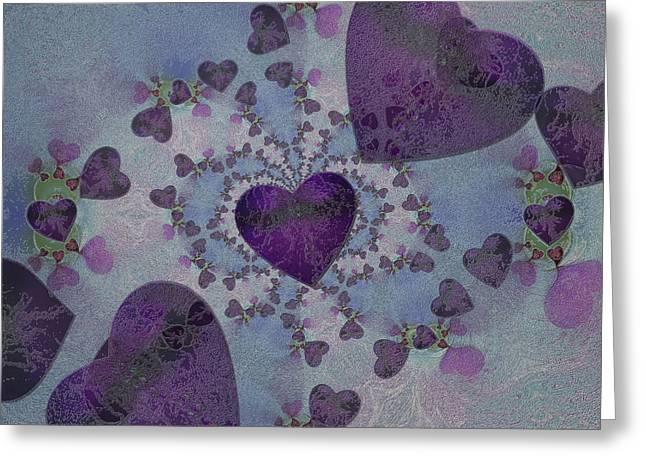 Heart Mix Blue Greeting Card