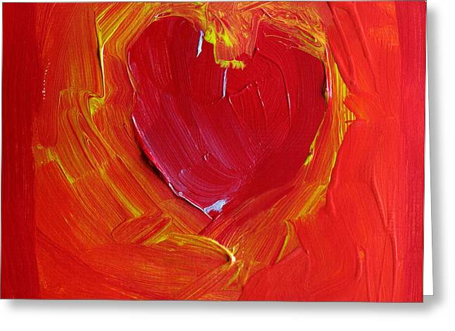 Heart Of Cupids Joy At The Moment Of Transformation Dripping Oozing Love When Pierced With Open Fear Greeting Card by ImQueer AndLoveIt
