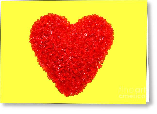 Heart Of Glass Greeting Card by Olivier Le Queinec