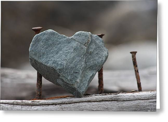 Heart Of Stone Greeting Card by Cathie Douglas