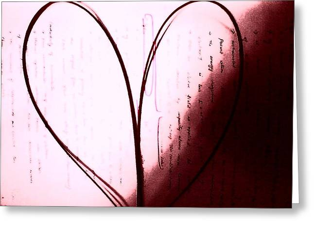 Heart Greeting Card by Poornima M