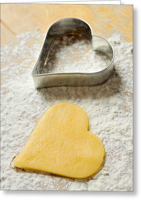 Heart Shaped Christmas Cookie Greeting Card by Matthias Hauser