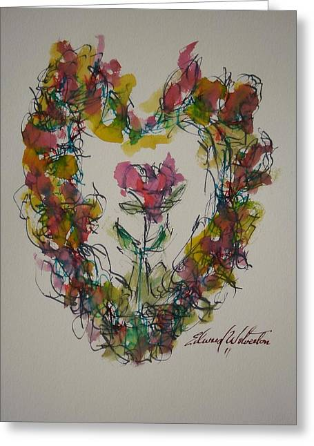 Heart Strings Greeting Card by Edward Wolverton