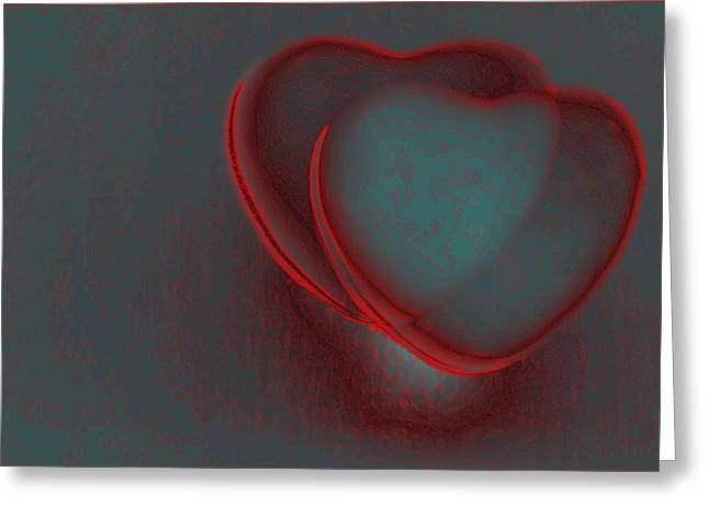 Hearts-r Greeting Card by Ines Garay-Colomba