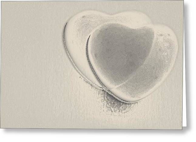 Hearts-smooth Greeting Card by Ines Garay-Colomba