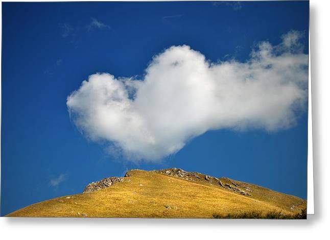 Heartshaped Cloud Greeting Card by Burim Fejsko