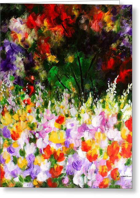 Heavenly Garden Greeting Card by Kume Bryant