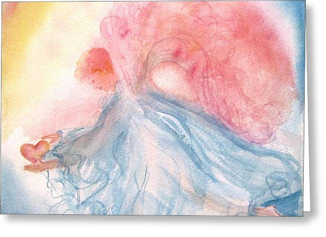 Heavenly Love Greeting Card by Marilyn Smith