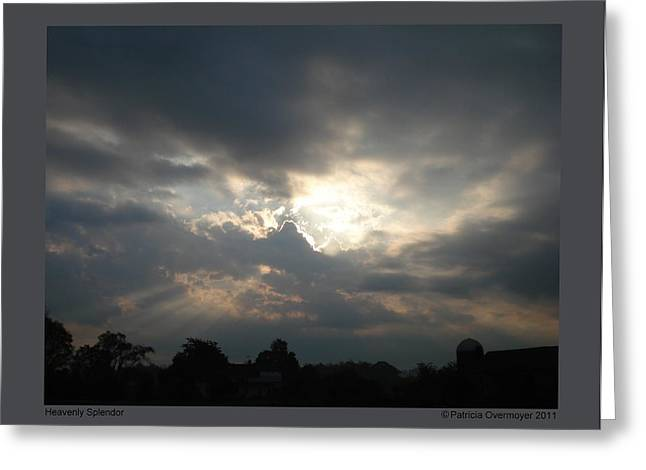 Greeting Card featuring the photograph Heavenly Splendor by Patricia Overmoyer