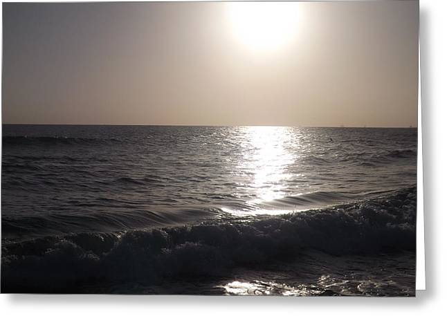 Heavenly Sunset Greeting Card by Jamie Diamond